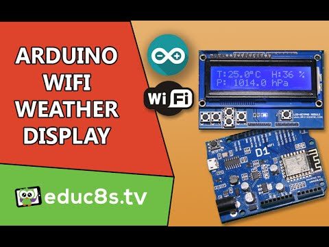 Arduino ESP8266 Project: WiFi Weather display using a Wemos D1 board and operweathermap.org website