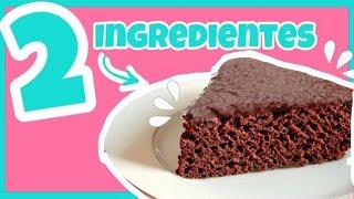 Pastel 2 ingredientes || Haz un bizcocho de chocolate con 2 ingredientes || 🍫 Nivel Delicia