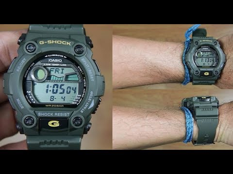 26a2bf738c6a CASIO G-SHOCK G-7900-3 MILITARY GREEN - UNBOXING - YouTube