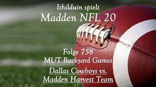 Let s Play Madden NFL 20 Ultimate Team auf Deutsch Folge 758 MUT Backyard Games Spiel 20