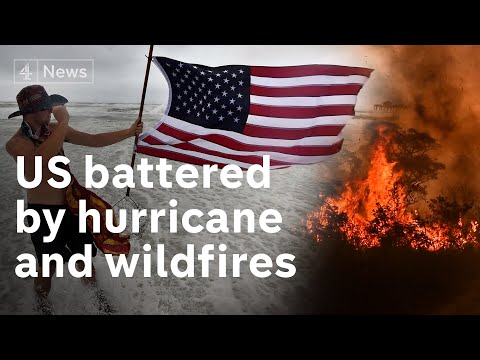 US battered by natural disasters as it faces hurricane and wildfires