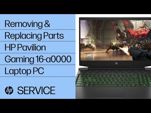 Service Teardown: HP Pavilion Gaming 16-a0000 Laptop PC | HP Computer Service | HP