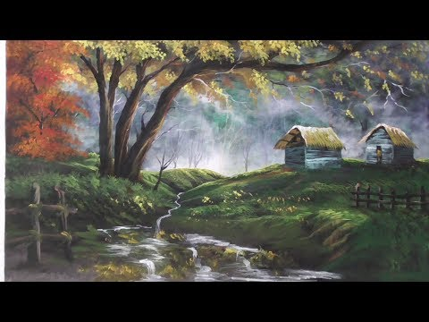ACRYLIC lANDSCAPE  PAINTING-  Loneliness