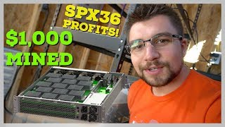 $7000 ASIC Miner Mined $1000 Dollars in Bitcoin in a Month | Spondoolies SPx36 Profitability