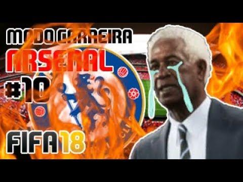 ANTI-WENGER HUMILHADO!!!!! 🔴⚪ Modo Carreira #10 Arsenal FC [FIFA 18]