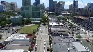 Downtown Las Olas Strip, Fort Lauderdale Florida - Aerial Film