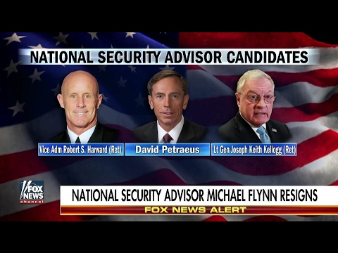Petraeus on short list to replace Michael Flynn as National Security Advisor