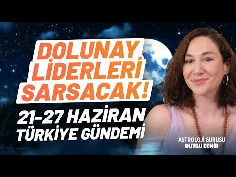 Güçlü Kararlar Ortaya Koyulacak! 21-27 Haziran Haftası Türkiye Gündemi   Astroloji Gurusu