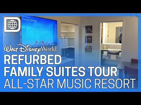 Refurbished Family Suites Tour - All-Star Music Resort