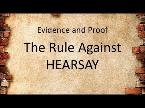 LAWS13010_7 The Rule Against Hearsay