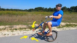 Rowerowy odcinek / pół kilosa na kole bez koła/ elektrykiem do tyłu