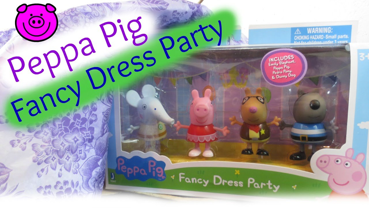 Peppa Pig S Fancy Dress Party Unboxing Review With Peppa Pig Emily Elephant Pedro Pony