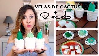 COMO HACER VELAS DE CACTUS + RECETA FÁCIL I velas con formas para decorar, receta para el verano