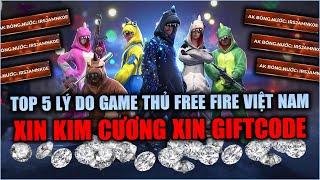 Free Fire   Top 5 Lý Do Game Thủ Free Fire VN Thích Xin Kim Cương Xin Giftcode   Rikaki Gaming