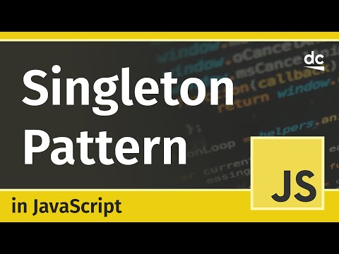 How to create Singleton Classes in JavaScript - Design Patterns Tutorial thumbnail
