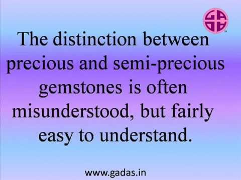 Difference between precious and semi precious gemstones