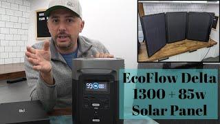EcoFlow Delta 1300 with 85 watt Solar Panel
