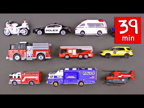 Emergency Vehicles Rescue Trucks for Kids (39 Minutes) - Fir