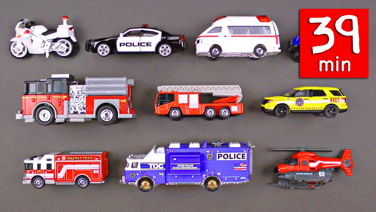 Emergency Vehicles Rescue Trucks For Kids 39 Minutes