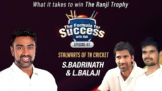 Sachin scored a 200 without a single cover drive | Formula for Success | L.Balaji & S.Badrinath | E7