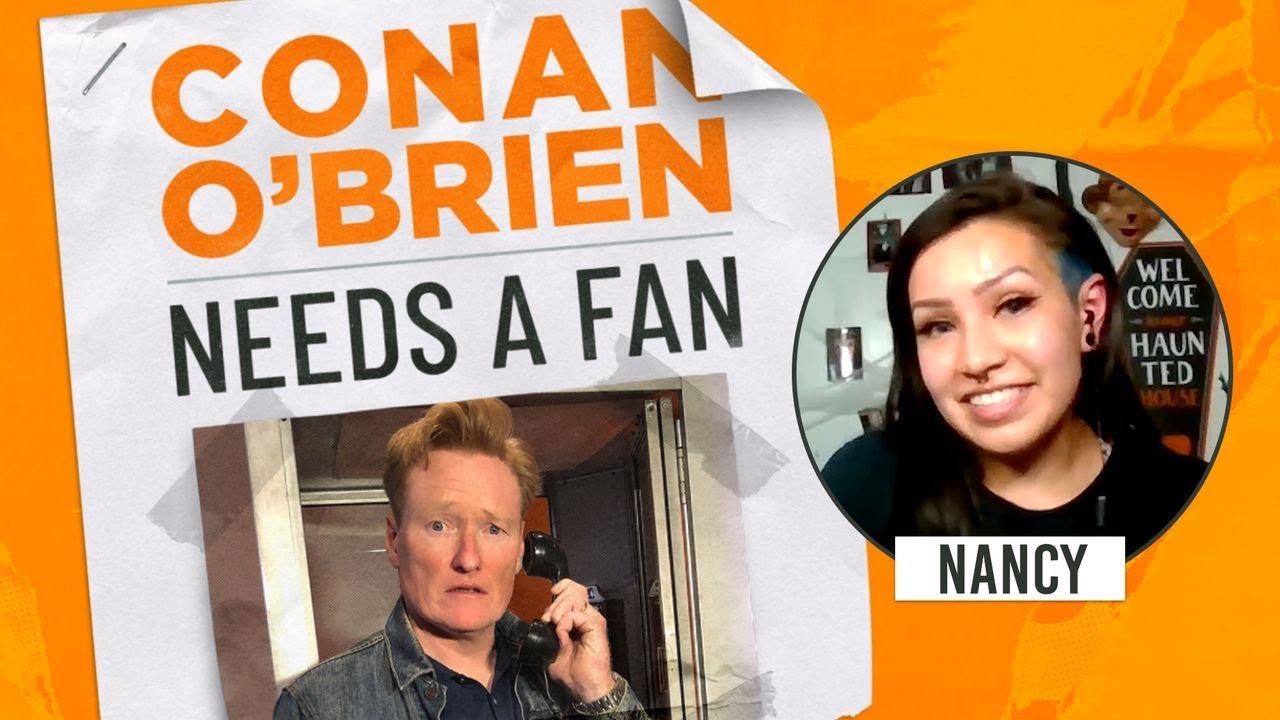 Conan Meets A Professional Haunted House Reviewer   Conan O'Brien Needs a Fan