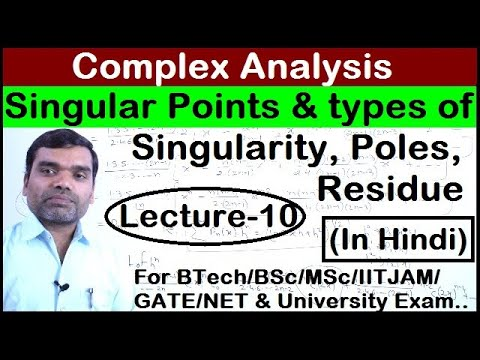 Complex Analysis - Singular Points and Residue in Hindi(Lect