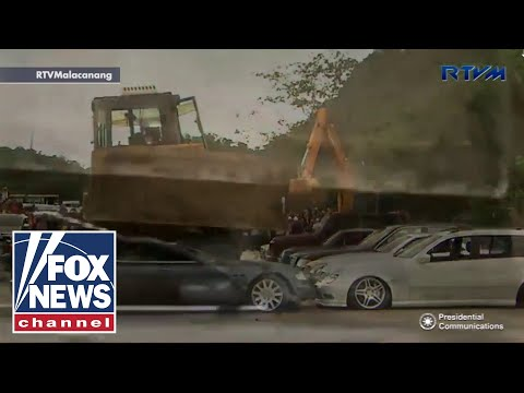 Luxury cars destroyed in Philippines crime crackdown