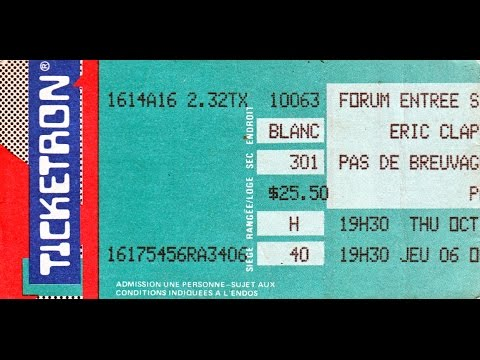 Eric Clapton & Mark Knopfler - Montreal PQ 10/6/88 - Full Concert