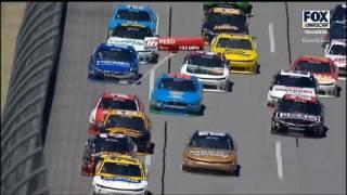 NASCAR Xfinity Series Talladega 2017 Stage 2 Finish Big Crash