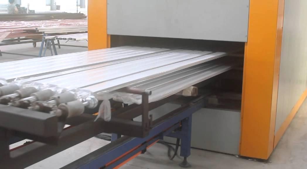 Wood Grain Effect Machine For Aluminum Profile Sheet Youtube