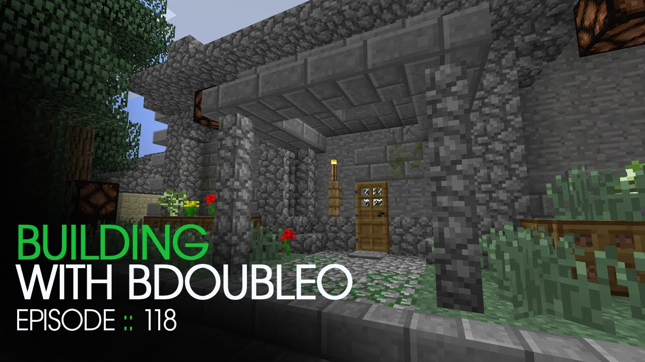 Minecraft Building With Bdoubleo Episode 118 New Awning Youtube