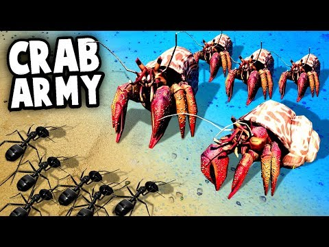 GIANT CRABS vs ARMY ANTS! Invasion! (Empires of the Undergrowth Gameplay - EotU)