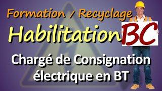Formation Habilitation électrique ⚡  BC Chargé de consignation ⚠️