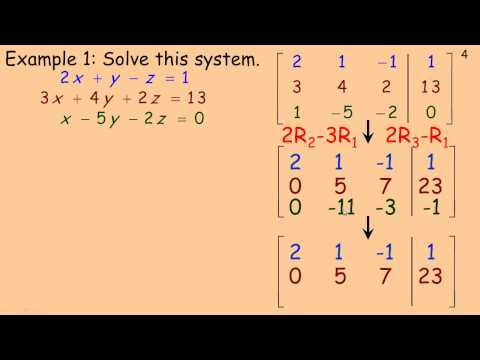 Solving Linear Systems Using Matrices.mp4