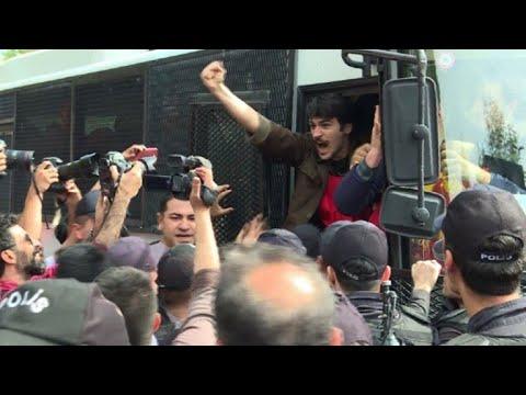 Turkish police make arrests during May 1st demonstration
