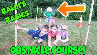 Baldi's Basics In Real Life Obstacle Course! Collab With My Two Earthlings