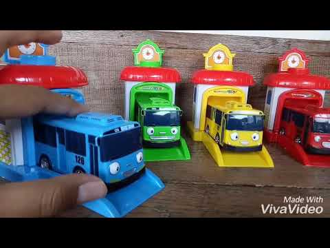 Tayo Little Bus Mainan Anak Tayo Set Garasi Youtube