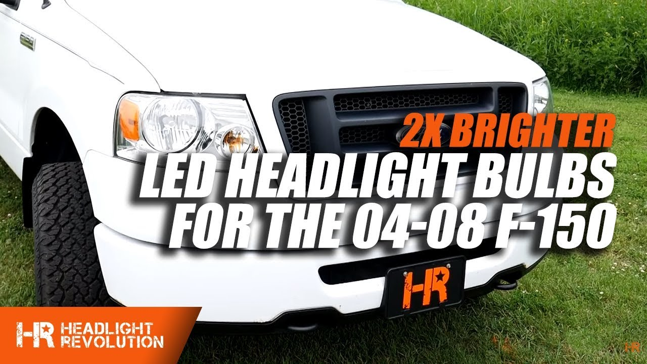 hight resolution of twice as bright 2004 2008 ford f 150 led headlight bulbs upgrade