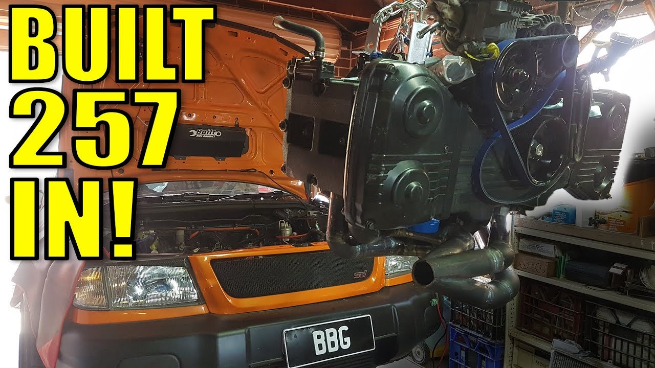THE CARROT GETS IT'S NEW HEART - COSWORTH/DESHELE BUILT EJ257 GOES IN!