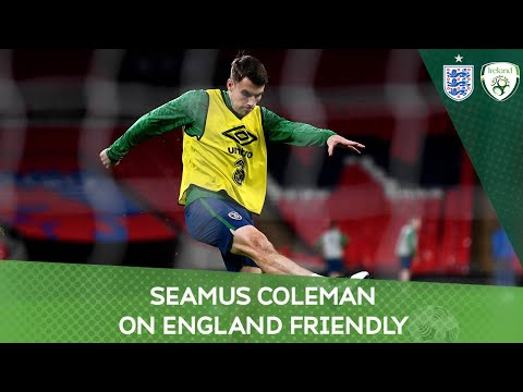PRESS CONFERENCE   Ireland captain Seamus Coleman on England friendly