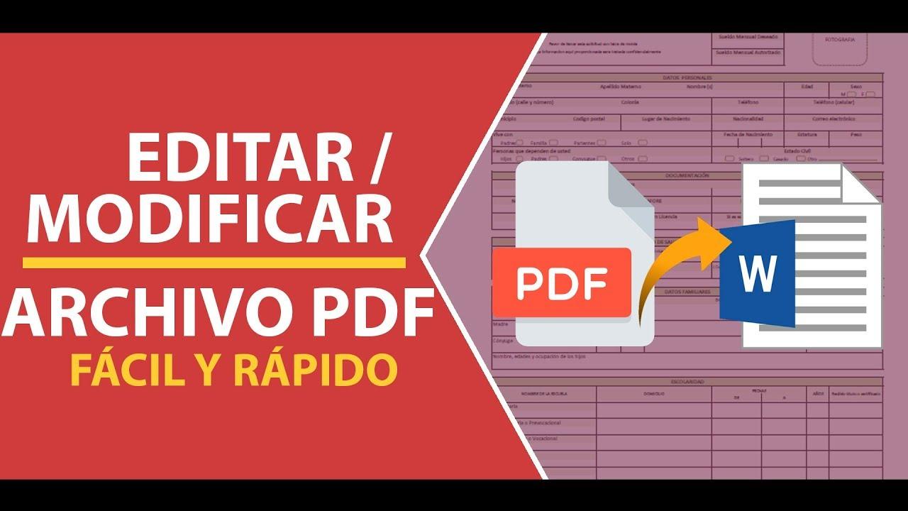 Como Editar o Modificar un Archivo PDF Sin Programas Fácil