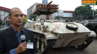 PT Pindad Badak, SBS, AMX-13, ANOA 2 armored vehicles at INDODEFENCE 2014