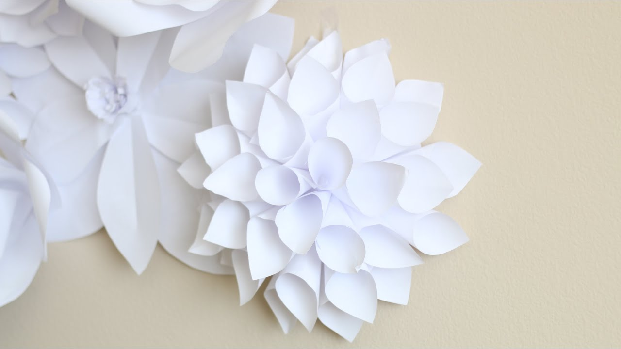 paper flower backdrop flower 2 youtube. Black Bedroom Furniture Sets. Home Design Ideas