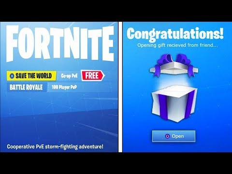 You Can Get Fortnite Save The World FREE!