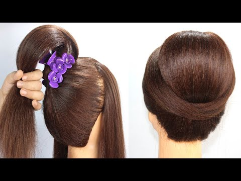 new-latest-bun-hairstyle-for-wedding-or-party-|-easy-hairstyles-|-bun-hairstyle-with-trick