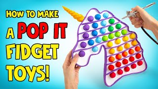 How To Make Fiḋget POP IT At Home!