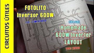 Fotolito INVERSOR 600W