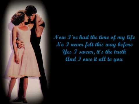 Bill Medley & Jennifer Warnes- (I've Had) The Time Of My Life Lyrics
