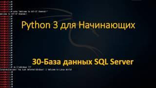 30.Python для Начинающих - Работа с Базами Данных SQL Server
