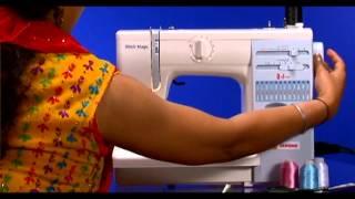 HOW TO SETUP Usha Janome automactic zig zag sewing machines